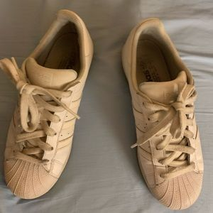 White Adidas leather shoes 7